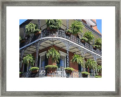 New Orleans Balcony Framed Print by Carol Groenen