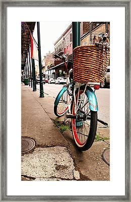 New Orleans Bike Framed Print by Jean Franciscy