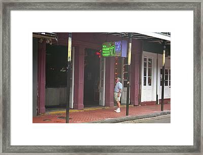 New Orleans Bourbon Street 35 Framed Print by Frank Romeo