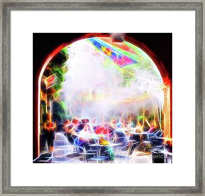 New Orleans Cafe Framed Print by Jerome Stumphauzer