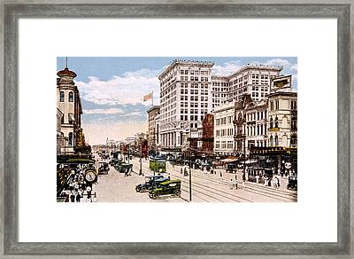 New Orleans, Canal Street Framed Print by Everett
