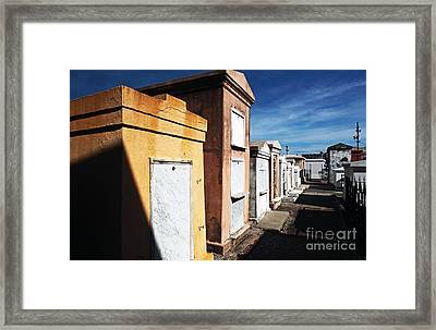 New Orleans Cemetery Framed Print by John Rizzuto