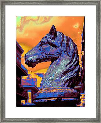 New Orleans Hitching Post Framed Print by L S Keely
