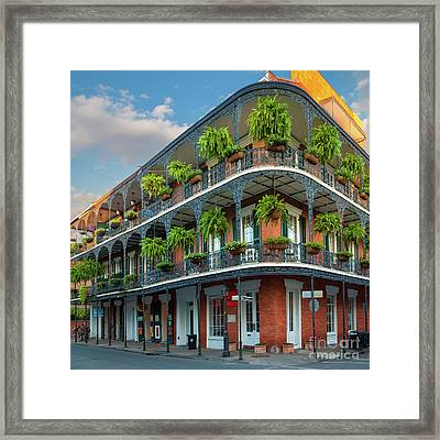 New Orleans House Framed Print by Inge Johnsson