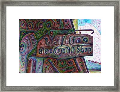 New Orleans - Lafittes Blacksmith Shop Sign Framed Print by Bill Cannon