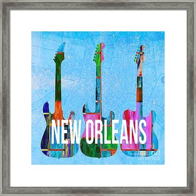 New Orleans Music Scene Framed Print by Edward Fielding