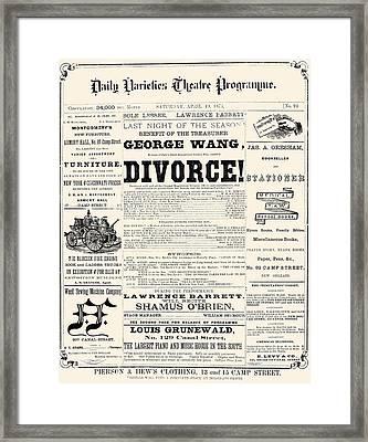 New Orleans: Newspaper Framed Print by Granger