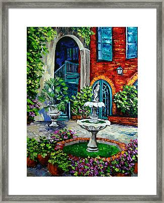 New Orleans Painting Brulatour Got A Penny Framed Print by Beata Sasik