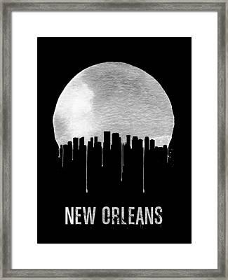 New Orleans Skyline Black Framed Print by Naxart Studio