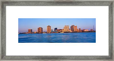 New Orleans Skyline From Algiers Point Framed Print by Panoramic Images