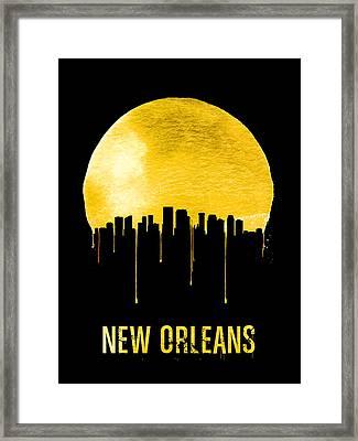 New Orleans Skyline Yellow Framed Print by Naxart Studio