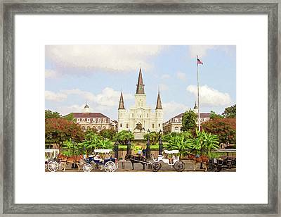 New Orleans St. Louis Cathedral Framed Print by Scott Pellegrin