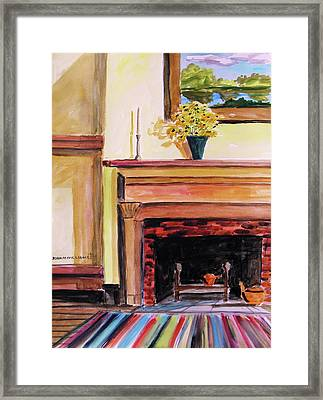 New Painting Over The Mantel Framed Print by John  Williams