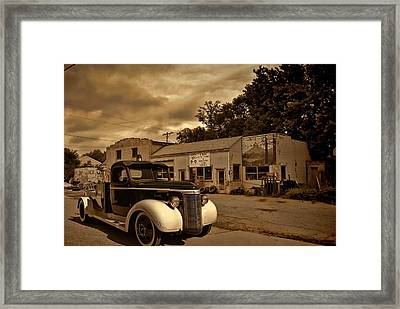 New Shop Tow Truck Framed Print by Tim McCullough