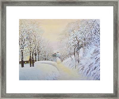 New Snow In Hunting Hills Framed Print by Douglas Ann Slusher