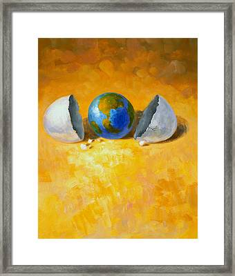 New World Framed Print by Andrew Judd