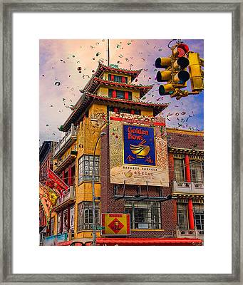 New Year In Chinatown Framed Print by Chris Lord