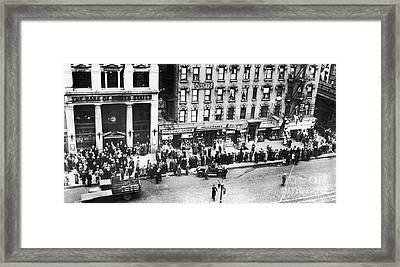 New York: Bank Run, 1930 Framed Print by Granger