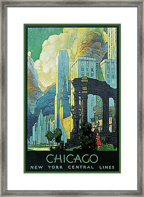 New York Central Lines Chicago Framed Print by Leslie Ragan