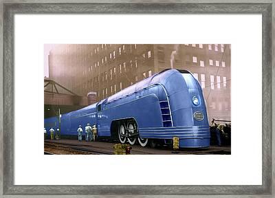 New York Central Framed Print by Steven Agius