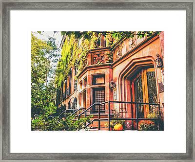 New York City Autumn Framed Print by Vivienne Gucwa