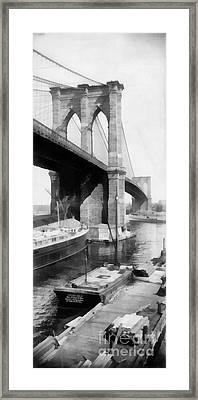 New York City Brooklyn Bridge Framed Print by Edward Fielding