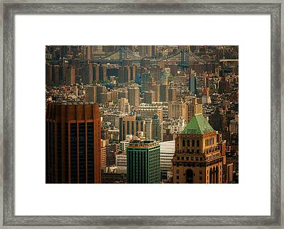 New York City Buildings And Skyline Framed Print by Vivienne Gucwa