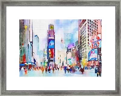 New York City Center 2 Framed Print by Yury Malkov