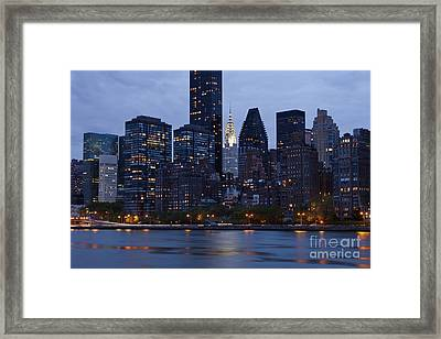 New York City From Across The Water Framed Print by Bryan Mullennix