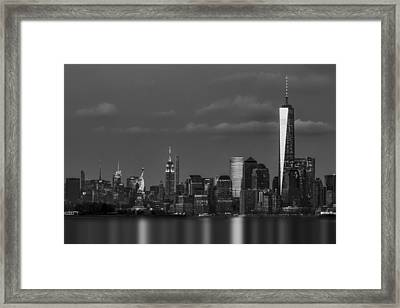 New York City Icons Bw Framed Print by Susan Candelario