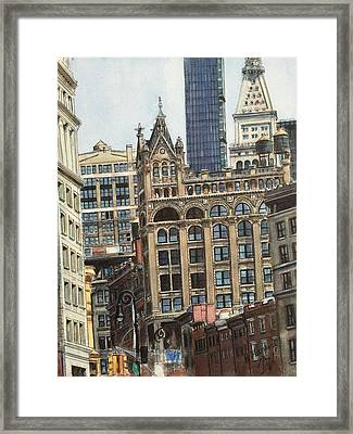 New York City IIi- Union Square/ Broadway Framed Print by Henrieta Maneva