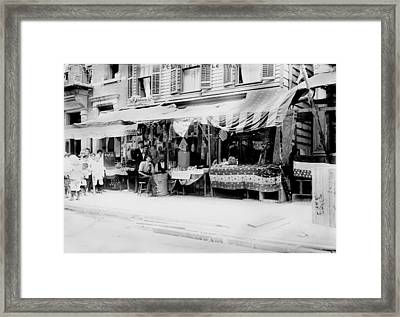 New York City, Italian Wares On Display Framed Print by Everett