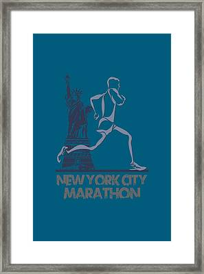 New York City Marathon3 Framed Print by Joe Hamilton