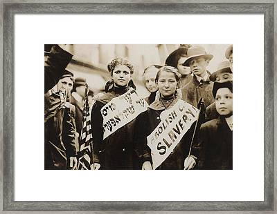 New York City May Day Celebration Framed Print by Everett