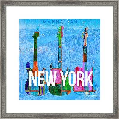 New York City Music Scene Framed Print by Edward Fielding