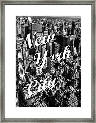 New York City Framed Print by Nicklas Gustafsson