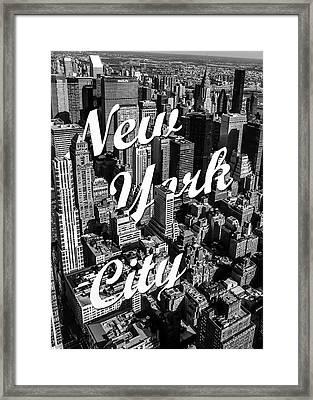 New York City Framed Print by Nicklas Gustafsson