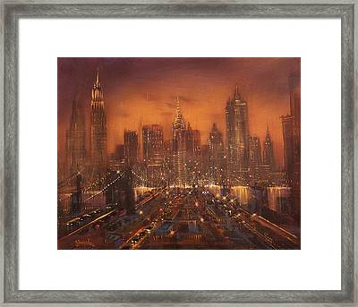 New York City Of Dreams Framed Print by Tom Shropshire