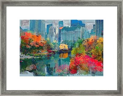 New York City Park Framed Print by Yury Malkov