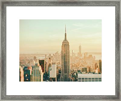 New York City - Skyline Dream Framed Print by Vivienne Gucwa