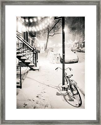 New York City - Snow Framed Print by Vivienne Gucwa