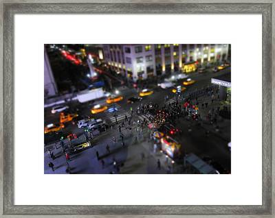 New York City Street Miniature Framed Print by Nicklas Gustafsson