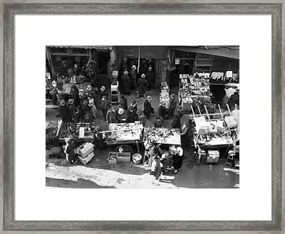 New York City, The Essex Street Market Framed Print by Everett