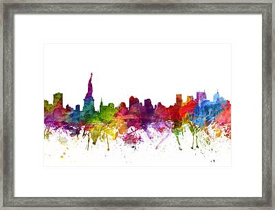 New York Cityscape 06 Framed Print by Aged Pixel