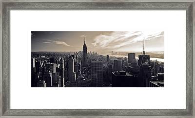 New York Framed Print by Dave Bowman