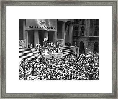 New York Fund Raiser Framed Print by Underwood Archives