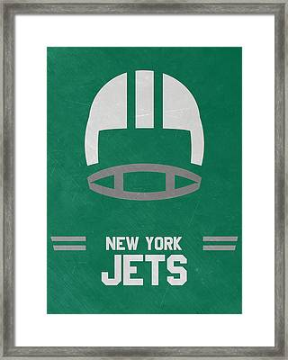 New York Jets Vintage Art Framed Print by Joe Hamilton