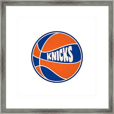 New York Knicks Retro Shirt Framed Print by Joe Hamilton