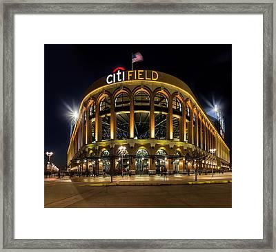 New York Mets Citi Field  Framed Print by Susan Candelario