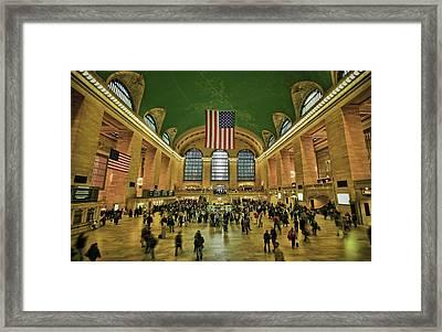 New York Minute Framed Print by Evelina Kremsdorf